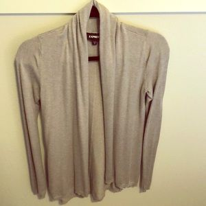 Express, open cardigan